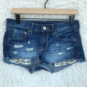 H&M | Distressed Fringe Cut Off Shorts Size 6